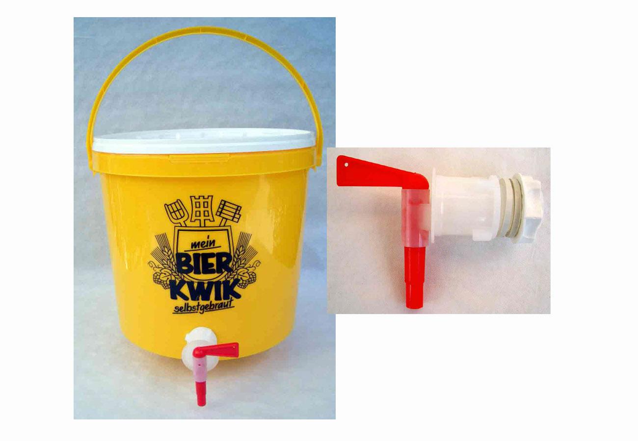 Auslaufhahn und Gummidichtung am 30L Brau- und Gäreimer richtig anbringen